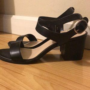 Short black heels
